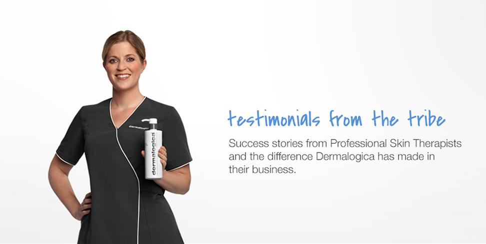 feature testimonials - meet dermalogica
